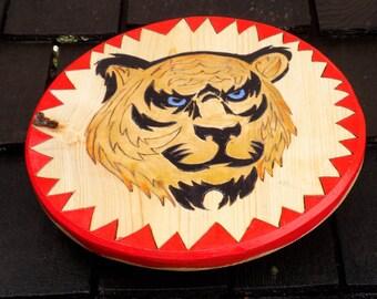 Ferocious Tiger Toy Wooden Shield