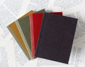 Small Linen Notebook with Soft Covers and Color Blocking