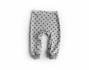 baby sweatpants, grey leggings, kids sweats, toddler cotton longies, baby joggers (grey marle sweatshirting)