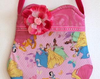 Princess Purse,  All the princesses purse, toddler purse, girls purse