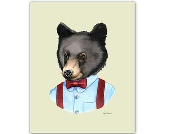 Baby Black Bear art print by Ryan Berkley 5x7