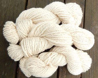 100% Alpaca Yarn White Two Ply Bulky Weight 200 yards 4.6 ounces Baby Soft Handmade Knitting, Crochet, Weaving Supplies