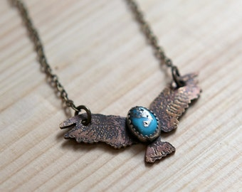 Soaring Eagle with Turuoise Necklace