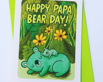 Happy Papa Bear Day - Father's day card for dad Cute fathers day card Sweet Fathers day card grandpa card papa bear fathers day card husband