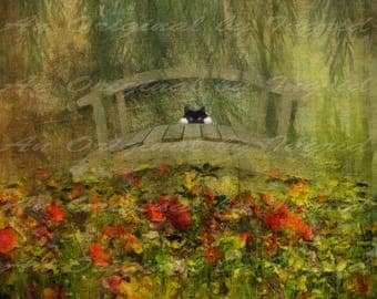 Monet's Beauty Digital Collage Greeting Card (Suitable for Framing)