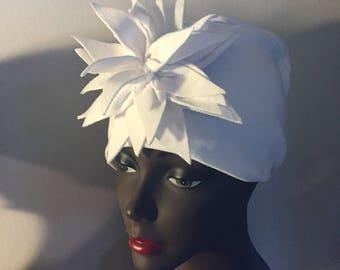 Summer White Cotton Knit HerHat