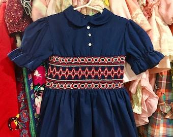 1950s Smocked Dress 4T