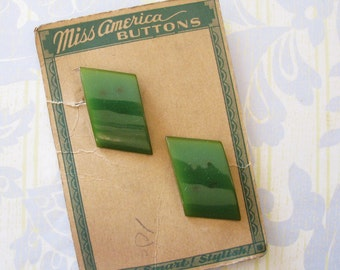 Art Deco Gems...Vintage 30s-40s Bakelite Dress or Sweater Clips