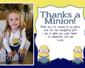 Minions Birthday Party Digital Thank You Card Design