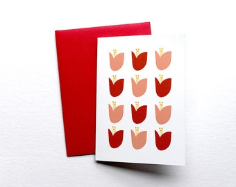 Tulip Greeting Card illustration floral stationery