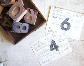 Wedding Table Numbers, Wedding Signage, Vintage Wedding Reception Numbers,  Event Table Numbers, Storage Markers