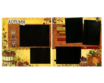 A Perfect Autumn Day - Premade Scrapbook Page Set
