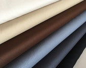 Kona Solid Bundle in Neutral, Quilting Solids *Ivory, Khaki, Chocolate, Steel, Charcoal, and Black* Bundle of 6, Choose the Cuts