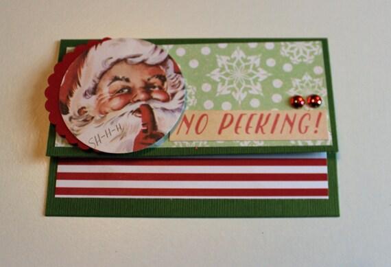Christmas Gift Card Holder - No Peeking - Money Card holder ...