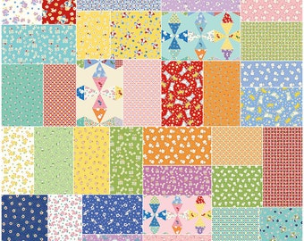 "SQ71 Riley Blake TOY CHEST 2 Precut 5"" Stacker Charm Pack Fabric Quilting Squares Penny Rose Studio 5-5610-42"