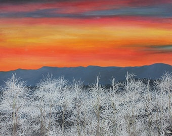 Frosty Sunset - Fine Art Print