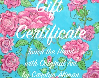 Give Gift Certificates