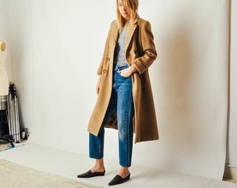 Vintage Lord & Taylor Camel Wool Coat