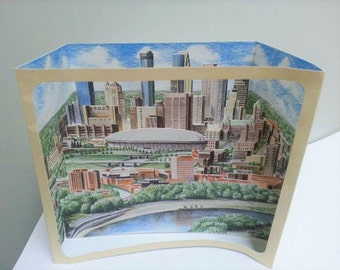 3D Paper Pop Up City Minneapolis Minnesota 90s