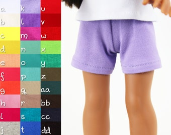 Fits like Wellie Wishers Doll Clothes - Knit Shorts, You Choose Color