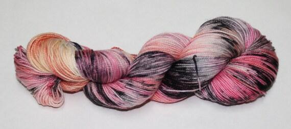 Ready to Ship - Zombie Romance Hand Dyed Sock Yarn - Bulky Merino