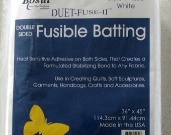 SALE Bosal Duet Fuse II Double Sided Fusible Batting