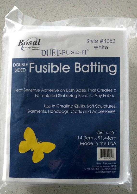 SALE Bosal Duet Fuse II Double Sided Fusible Batting