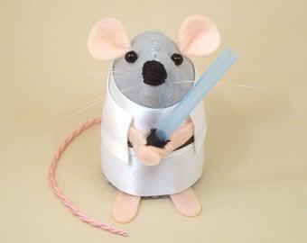 Star Wars Luke Skywalker Mouse ornament artisan Star Wars gift for husband boyfriend brother dad granddad uncle rat mice gift Star Wars Geek