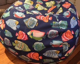 NEW Tropical Aquarium Fish Bean Bag Chair With Cover And Liner But UNFILLED Flat You Fill