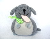 Gray dog pin cushion, Cute felt dog, Gift for sewer, Dog home decor, Animal lover gift, Cute fat dog, Sewing room decor, Pin holder, MTO
