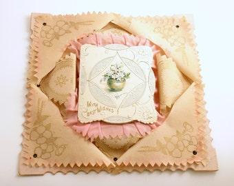 Antique Valentine Card Victorian Valentine Decoration