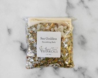SALE - Sea Goddess Organic Bath Salts - Seaweed Detox Bath, Mineral Bath, Essential Oil Bath, Bath Tea - Organic Spa - Organic Skin Care 5 o