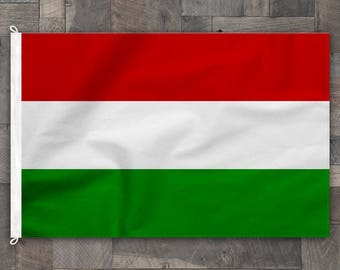 100% Cotton, Stitched Design, Flag of Hungary, Made in USA