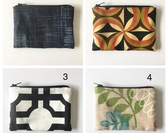SALE - Little Zipper Pouches - Choose Your Fabric