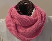Pretty in Pink Pure Cashmere Infinity Scarf