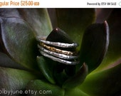 20% Off Black Friday Sale Single Silver Raw Ring | Stacking Ring | Nature Inspired Ring