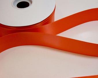 Orange Ribbon, Double-faced orange satin ribbon 1 1/2 inches wide x 10 yards, Offray Sunrise Orange Ribbon