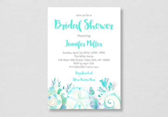 Beach bridal shower invitation beach bridal shower invite il570xn filmwisefo
