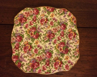 Royal Winton Summertime Chintz Salad Plate 1995