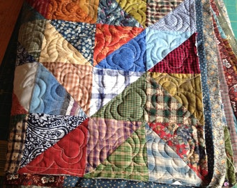 half square triangle quilt ..CUSTOM Order to your size