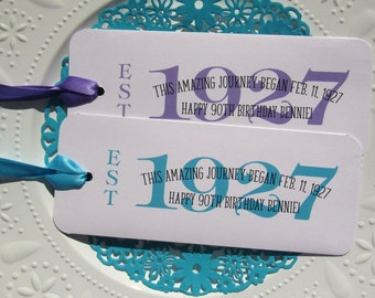 90th Birthday Party - Favors for a 90th Birthday Party - 90th Birthday Favors - Candy Bar Holders Birthday - Adult Birthday - 1927 Favors