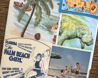 Let's Travel to Florida Vintage Collage, Scrapbook and Planner Kit Number 2380