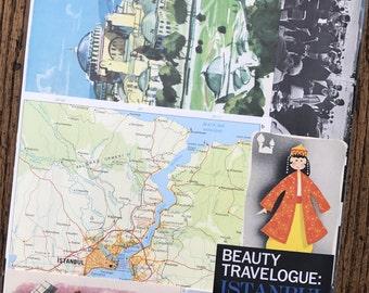 Let's Travel to Turkey Vintage Collage, Scrapbook and Planner Kit Number 2386