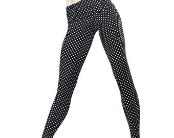 Polka Dot Legging Fold Over Low/High Rise SXYfitness MADE IN USA