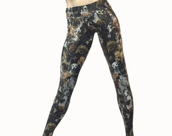 Yoga Pants - Workout Clothes - Hot Yoga - Fitness - Dog Pants - Puppy Pants - Puppies - Low Rise - Legging - SXY Fitness - Handmade - USA -