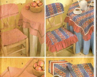 Butterick Sewing Pattern Table Top and Chair Cushion