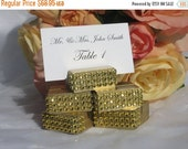 20% off ends at 5pm Place Card Holder + Gold place card holders trimmed with a gold crystal wrap -Set of 100
