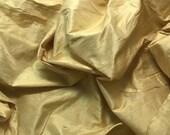 Pure Gold Silk DUPIONI Fabric - fat 1/4