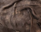 Hand Dyed CHOCOLATE BROWN Soft Silk Organza Fabric - 1/3 yard remnant