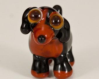 Dachshund Beagle Mix Lampwork Dog Bead